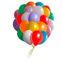 50 разноцветных шаров под потолок