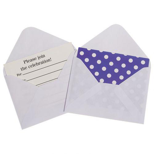 Пригласительная открытка  (Точки, с конвертом, фиолетовый)
