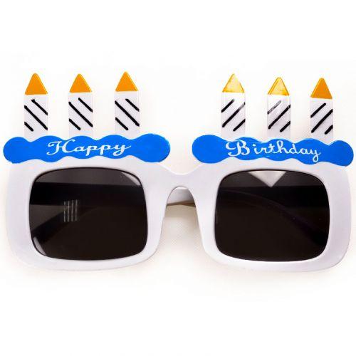 Синие очки Happy Birthday - выбери с доставкой