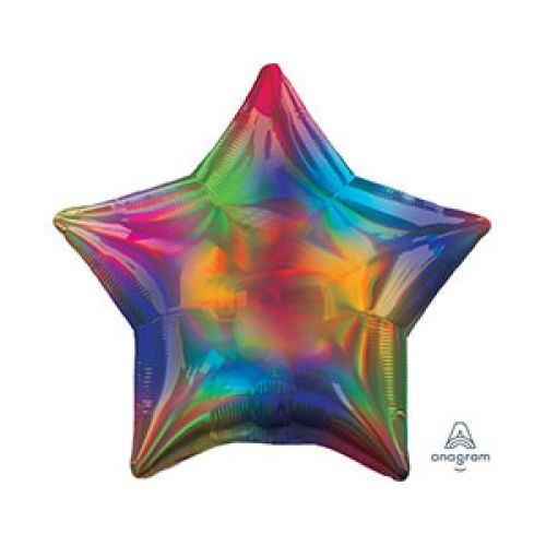 Шар звезда радужная - доставка куда угодно