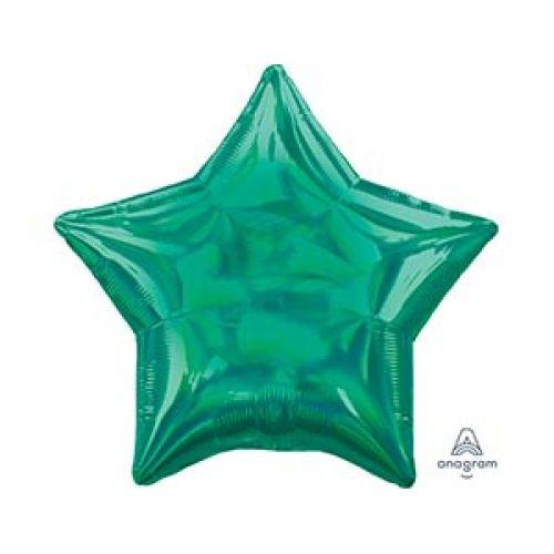 Новинка - Зелёный шар переливы в форме звезды - быстрая доставка в Москве