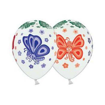 Латексные шары бабочки (Белые - стоимость за шар)