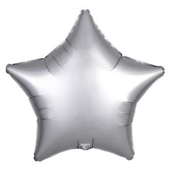 Фольгированная звезда Платина (Сатин, 46 см)