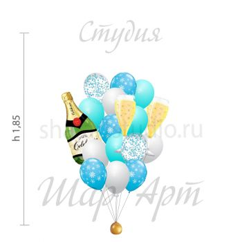 """Сет из шаров """"С Новым Годом"""""""