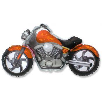 Фольгированный шар, Байк, (Оранжевый)