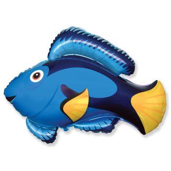 Шар фольгированный Рыба (Голубая)