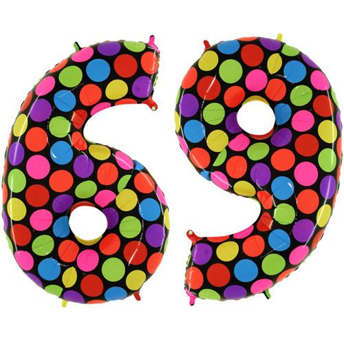 Разноцветная цифра 6 рисунок