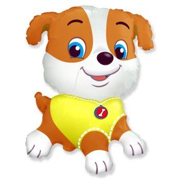 Шар фольгированный - бульдог щенок