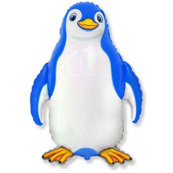 Фольгированный шар Счастливый пингвин (синий, 81 см)