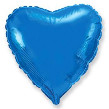 Фольгированное сердце 48 см (ярко синее)