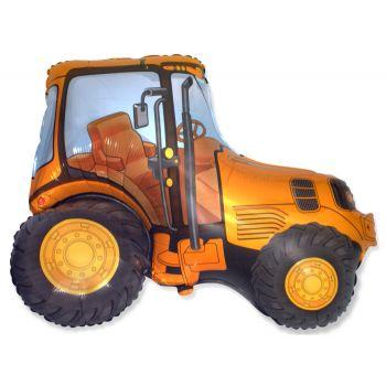 Фольгированный шар Трактор (Оранжевый)