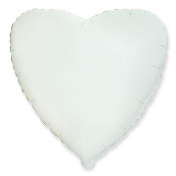Фольгированное сердце (белое)