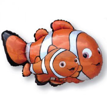 Фольгированный шар - Рыба-клоун Немо (оранжевый)