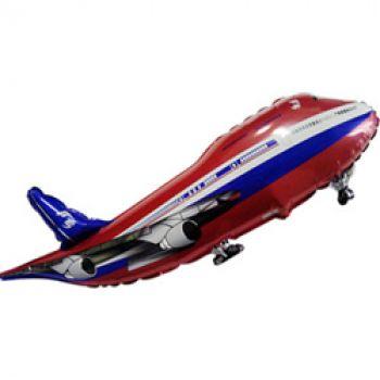 Фольгированный шар Самолет (Красный)