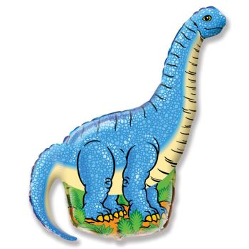 Фольгированный шар  Динозавр диплодок (Синий)