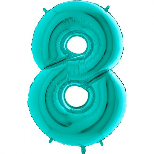 Цифра 8 девочке или мальчику цвета тиффани - шарик
