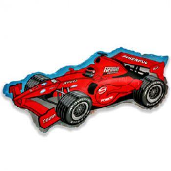 Фольгированный шар Формула 1 (Красный)