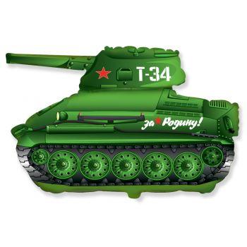 Фольгированный шар, Танк T34 , Коричневый