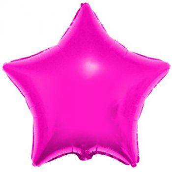 Фольгированная звезда фуксия (46 см)
