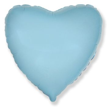 Фольгированное голубое сердце (46 см)