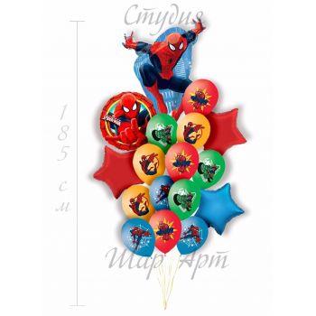 """Сет из шаров """"Человек-паук спешит на помощь"""""""