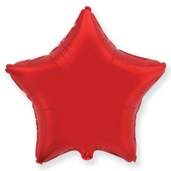 Фольгированная звезда Красная ( 46 см)