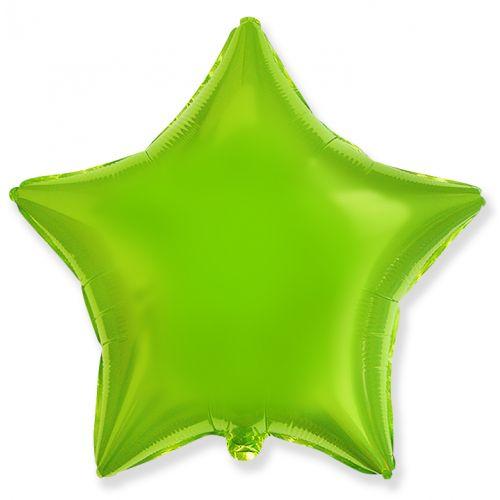 Фольгированная звезда Лайм (сатин, 46 см)