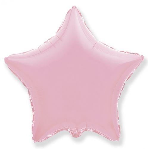 Фольгированная звезда Розовая (46 см)