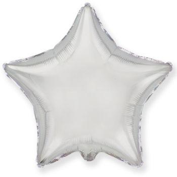 Фольгированная звезда Тиффани (серебряная, 46 см)