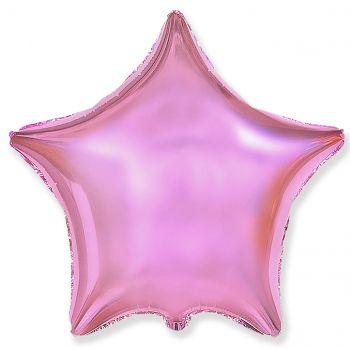 Фольгированная звезда нежно розовая (46 см)