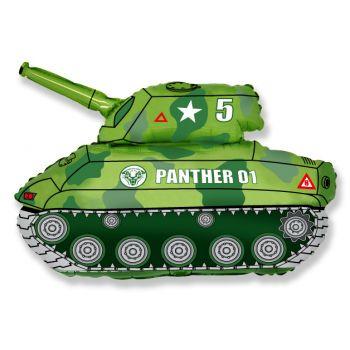 Фольгированный шар Танк (Зеленый)