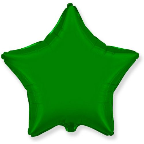 Фольгированная звезда Зелёная (46 см)