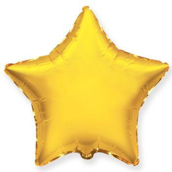 Фольгированная звезда золото (46 см)