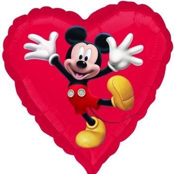 Фольгированное сердце Микки (46 см)