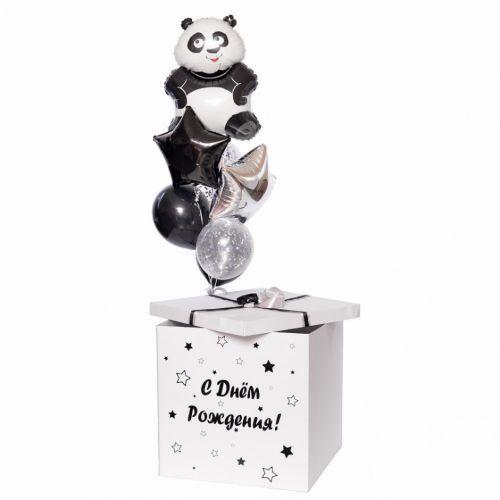"""Набор шаров """"Чёрно-белая милашка панда"""""""
