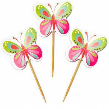 Пики для канапе Бабочки, 12 шт (возможна доставка)