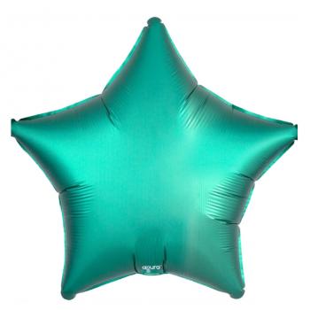 Фольгированная звезда Тиффани (сатин, 46 см)