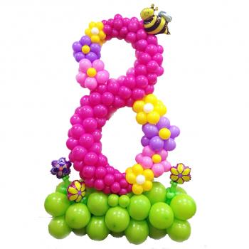 Цифра 8 на каркасе