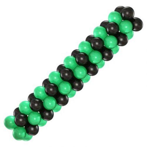 Гирлянда из шаров (зелёная и чёрная)