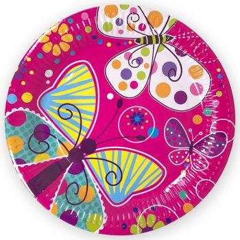 Тарелки Бабочки, 9 дюймов, 6 шт