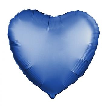 Фольгированное сердце (лазурь, Сатин)