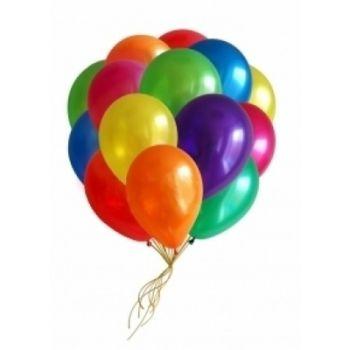 20 разноцветных шаров под потолок
