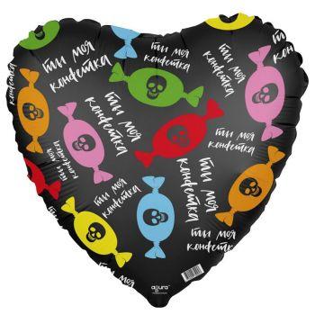 """Фольгированное сердце (46 см), """"Ты моя конфетка"""""""