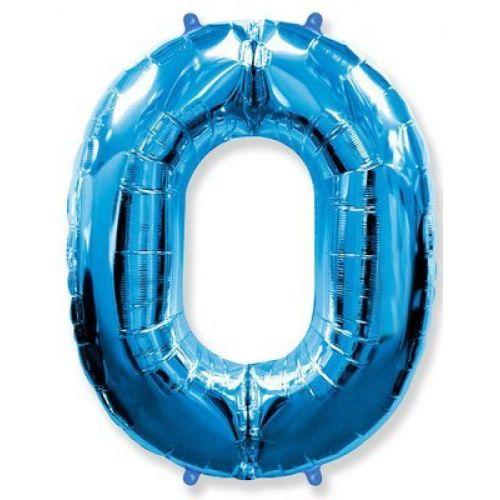 Синий шар цифра 0