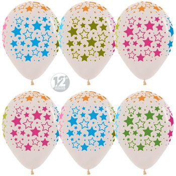 Латексные шары со звёздами (стоимость за шар)