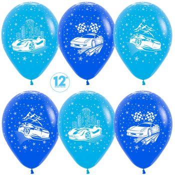 """Латексный шар """"Гонки с флагами"""" - цена за шар"""