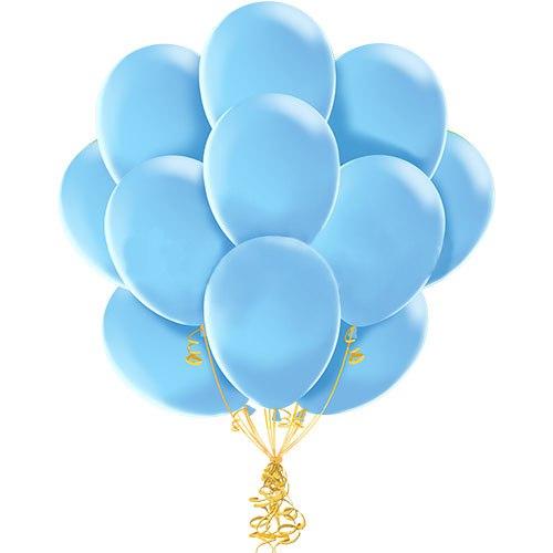 шары голубые связка