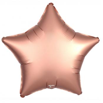 Фольгированная звезда Медь (сатин, 46 см)