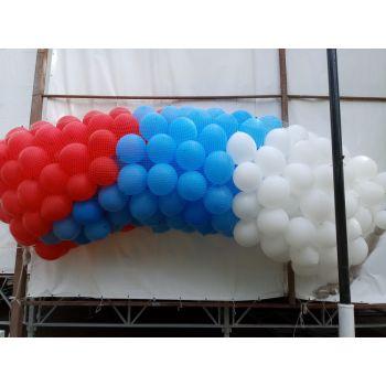 Сброс шаров из сетки от 200 шаров, матовые, воздух (17 руб. за шар)