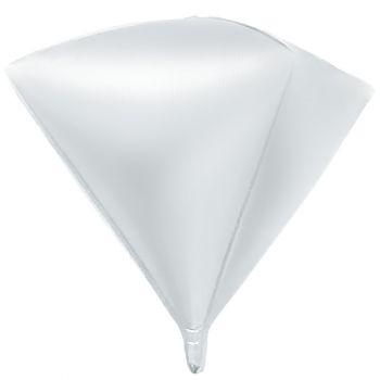 Шар 3D Алмаз, Белый (69 см)